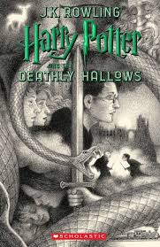 photo scholastics new book cover for harry potter and the ly hallows featuring art
