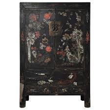 how to paint lacquered furniture. 20th Century Chinese Black Lacquer Cabinet With Floral Design For Sale. Painted How To Paint Lacquered Furniture ,