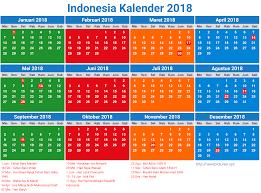 13 desain kalender indonesia 2018 lengkap dengan hari libur