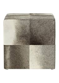 swhf square leather pouf grey shelltagcomleather fashion online