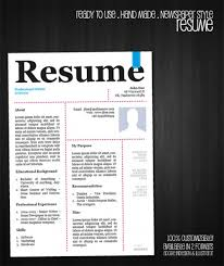 Cool Resume Templates Free. Free-Creative-Resume-Template-In-Psd ...