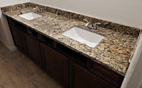 St Cecelia Granite Countertop Remodel With Flat Polish Edge And - Granite countertops for bathroom