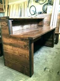 rustic computer desk secretary reclaimed wood office diy