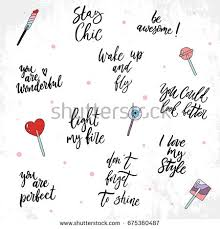 Beauty Quotes Pics Best Of Sweet Set About Beauty Quotes Hand Stock Vector 24 Shutterstock