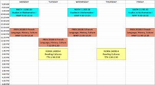 Sample Of Schedules First Quarter Schedules The College The University Of