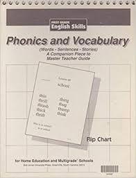 Phonics And Vocabulary Flip Chart First Grade No Author