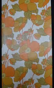 Oranje Bloemen Vintage Behang Funkywalls Dé Webshop Voor Vintage