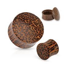 mspiercing pair of stash organic coconut wood plugs gauge thickness 1 2 12mm com