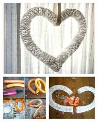 view in gallery heart yarn wreath with balloon f