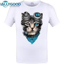 Cat Shirt Design Cute Space Cat Funny Design Animal T Shirt Cheapest Brand Clothing Hipster Men T Shirt Cool Tops Tee Funny Print Shirts White T Shirt Designs From