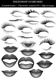 eyebrow brushes photoshop. lips \u0026 lashes (12 eyelash brushes, 9 lip brushes) eyebrow brushes photoshop r