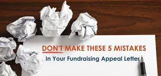 Fundraising Appeal Letter Mistakes - 5 Key Items To Avoid Nonprofit ...
