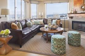 sofa sectionals on traditional family room and accent tables area rug with brown couch to match leather what color end tables