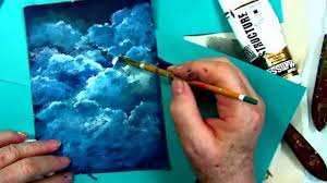 how to paint clouds tutorial free step by step cloud tutorial by ginger cook you