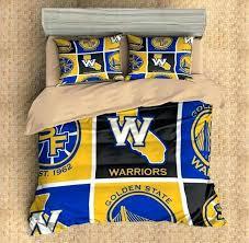 custom golden state warriors duvet cover set bedding flat sheet pillowcases three twin sets