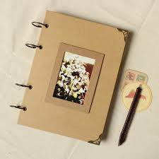 retro photo album a4 56p kraft wire binding paper handmade diy paste type personality