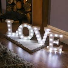 alphabet love marquee battery light up circus letter 36 white leds light up