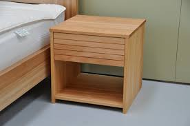 dark brown bedside tables