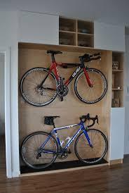 image of indoor diy bike storage