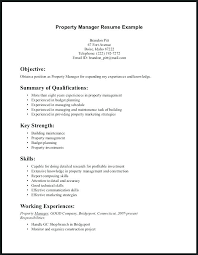 Property Manager Resume Examples Objectives To Put On A Resume Hotel