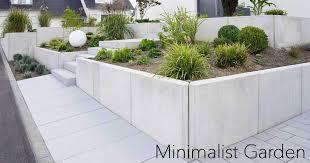 relaxing minimalist garden