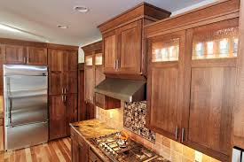 Thumb Kitchen Shaker Style Quartersawn Oak Recessed Panel Dark Color Glass  Top Panel Rain Glass Staggered Photo Gallery