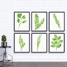 watercolor herbs prints set of 6 art prints herb print herbs kitchen decor culinary herb print botanical print kitchen art wall art
