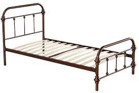 Bronze Merax Stylish Design Solid Metal Twin Platform Bed Frame