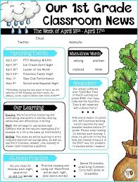 Monthly Newsletter Template For Teachers April Newsletter Template Skincense Co