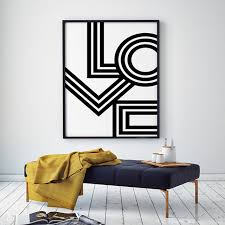love wall art canvas