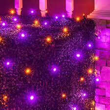 outdoor halloween lighting. halloween lights so easy itu0027s frightening wrap bushes and shrubs with net featuring purple outdoor lighting