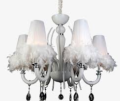 feather pendant white ceiling lamp white chandelier ceiling lamp png image and clipart