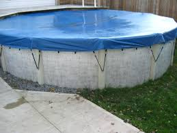 Intex 24 Foot Pool Liner Round Winter Cover Swimming Drain Covers