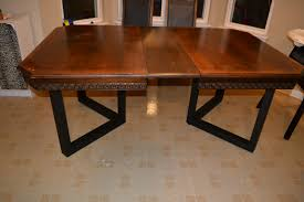 the above project shows the retro fit of a set of metal table legs onto a specific table top while many tables will have a very similar method of taking