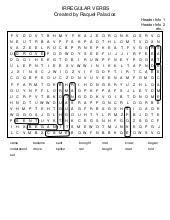 Worksheet Azar Basic English Grammar Chart 8 6 Answers Irregular Verbs Wordsearch Clues