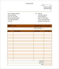 Estimates Templates Free Roofing Estimates Templates Free Download