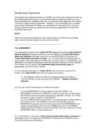 example short form short form loan agreement template intercompany images example ideas