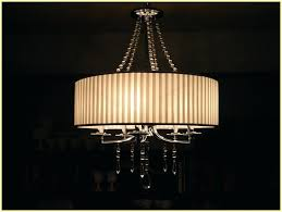 crystal drum shade chandelier image of tribecca