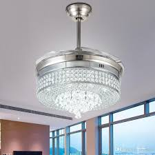 best invisible led crystal ceiling fans with lights modern bedroom living room folding ceiling fan remote control lamp chandelier ceiling light under