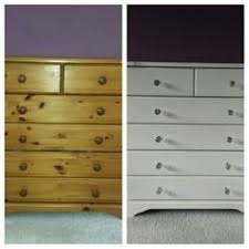 Old Pine Chest Of Drawers Upcycled With Annie Sloan Chalk Paint. Crystal  Knobs Added.