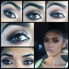 makeup ideas brown soft smokey brown eyes with a pink lip