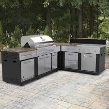 Shop Master Forge Corner Modular Outdoor Kitchen Set At Lowes