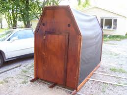 house plan ice shanty plans free zijiapin free portable ice fishing hut plans