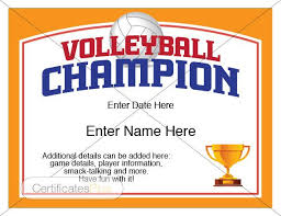 volleyball certificate template volleyball certificate volleyball award template volleyball etsy