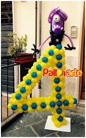 number 4 balloons decorations despicable me minions numero con palloncini  cattivissimo me