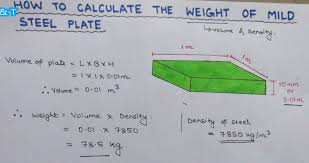 How To Estimate The Weight Of A Mild Steel Plate