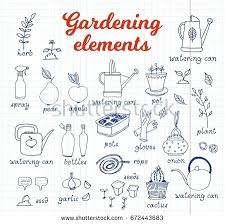 gardening tools and their uses gardening horticulture vector set equipment and tools vegetables and plants on gardening tools