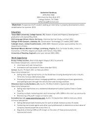 College Internship Resume Sample College Resume Undergraduate