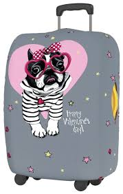 <b>Чехол для чемодана RATEL</b> Happy Valentine's Day Pink glasses S ...