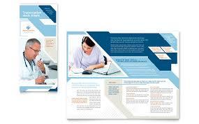 Medical Transcription Tri Fold Brochure Template Word